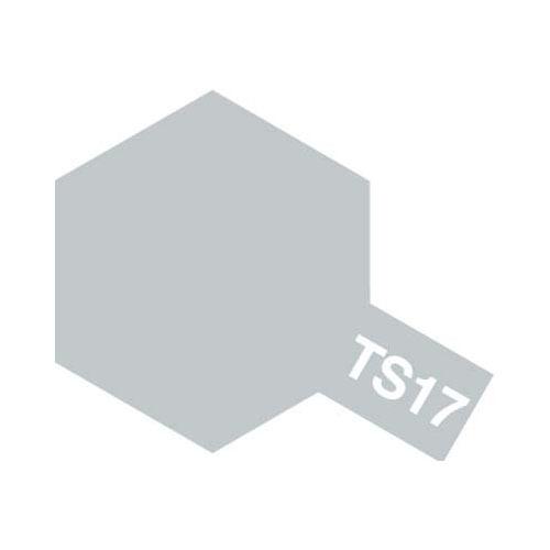 【クリックでお店のこの商品のページへ】タミヤ カラースプレー TS-17 アルミシルバー