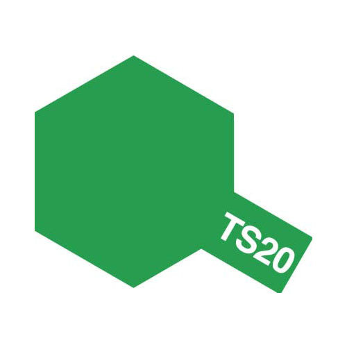 【クリックでお店のこの商品のページへ】タミヤ カラースプレー TS-20 メタリックグリーン