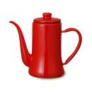 野田琺瑯 月兎印スリムポット 1.2L 赤│茶器・コーヒー用品 コーヒーポット・サーバー
