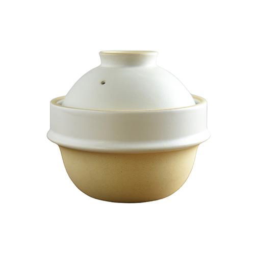 つかもと kamacco 土鍋(土釜)ご飯 益子焼 1合炊き用 直径14cm 白釉