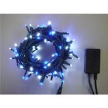 【クリスマス】 LED100球 白/青 グリーンコード