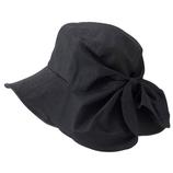 小泉ライフテックス ウルミヴェール 2WAYリボン 日よけ付帽子 ブラック