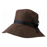 <東急ハンズ> 小泉ライフテックス マーベラスクールネオプラス リボン付き深型帽子 ブラウン画像