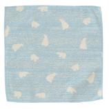 小泉ライフテックス クールバンブー パイルハンカチ シロクマ C1 ライトブルー