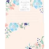古川紙工 今日のお手紙レターセット 青の花々 LLL374