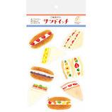 【通販限定】 古川紙工 紙製パン ますきんぐシールシート 紙製パン QS106 サンドイッチ│シール シール・ステッカー