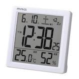 MAG タッチセンサークロック カッシーニ T−726 ホワイト│温度計・湿度計