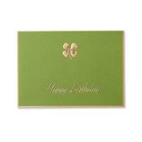 G.C.PRESS カード 005−38 四葉のクローバー グリーン BIRTH