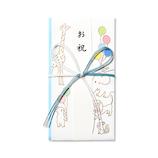 G.C.PRESS 祝儀袋 御祝 どうぶつ 短冊付 040-56 ブルー