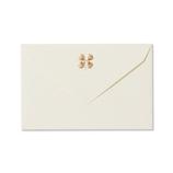 G.C.PRESS ミニメッセージカード用封筒 四葉のクローバー