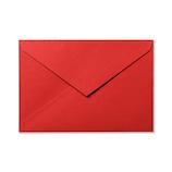 G.C.PRESS カラー封筒 洋1 5枚  565-22 ピュアレッド