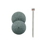 プロクソン ディスク砥石2本セット シャフト付 26305 円盤型 GC砥石150番
