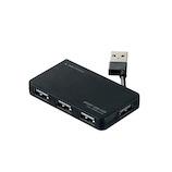 エレコム(ELECOM) USB2.0ハブ ケーブル収納タイプ U2H-YKN4BBK ブラック