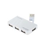 エレコム(ELECOM) USB2.0ハブ ケーブル収納タイプ U2H-YKN4BWH ホワイト