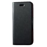 【iPhone7】エレコム 4.7レザー薄型磁石付 MPLFUMBK ブラック