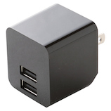 エレコム(ELECOM) スマートフォン タブレット用AC充電器 2ポート 2.4A MPA-ACUEN000NBK ブラック