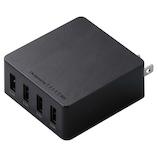 エレコム(ELECOM) スマートフォン タブレット用USB充電器 4ポート4.0A MPA-AC4U001BK ブラック