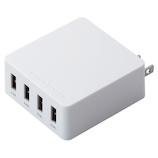 エレコム(ELECOM) スマートフォン タブレット用USB充電器 4ポート4.0A MPA-AC4U001WH ホワイト