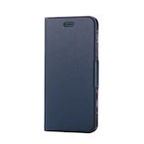 【iPhone8Plus/7Plus】 エレコム ソフトレザーカバー 薄型 PM-A17LPLFUJNV ネイビー