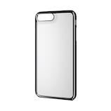 【iPhone8Plus/7Plus】 エレコム シェルカバー 極み サイドメッキ PM-A17LPVKMBK ブラック