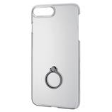 【iPhone8Plus/7Plus】 エレコム シェルカバー リング付 PM-A17LPVRBK ブラック