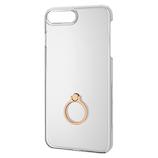【iPhone8Plus/7Plus】 エレコム シェルカバー リング付 PM-A17LPVRGD ゴールド
