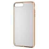 【iPhone8Plus/7Plus】 エレコム ソフトケース サイドメッキ PM-A17LUCTMGD ゴールド