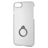 【iPhone8/7】 エレコム シェルカバー リング付 PM-A17MPVRBK ブラック