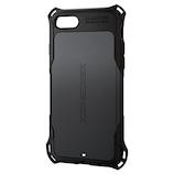 【iPhone8/7】 エレコム ZEROSHOCK スタンダード PM-A17MZEROBK ブラック