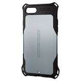【iPhone8/7】 エレコム ZEROSHOCK スタンダード PM-A17MZEROSV シルバー