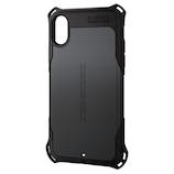 【iPhoneX】 エレコム(ELECOM) ZEROSHOCK スタンダード PM-A17XZEROBK ブラック