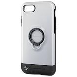 【iPhone8/7】 エレコム TOUGHSLIM リング付 PM-A17MTSRWH ホワイト