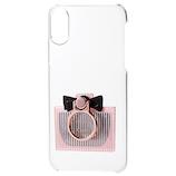 【iPhoneX】 エレコム シェルカバー リング付 ミラー付 PM-A17XPVRM01 ピンク