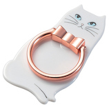 エレコム フィンガーリング(ネコ) P-STRJCTWH 白猫