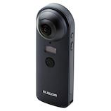 エレコム 360°カメラ 4K スタンドアローンタイプ オムニショット OCAM-VRW01BK ブラック