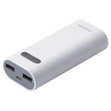 エレコム(ELECOM) モバイルバッテリー DE-M01L-6400WH ホワイト
