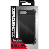 【iPhoneSE/5s/5】 エレコム ZEROSHOCK スタンダード PM-A18SZEROBK ブラック