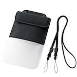 エレコム スマートフォン用防水・防塵ケース(ポケット付きタイプ) P−WPSP03BK ブラック