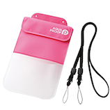 エレコム スマートフォン用防水・防塵ケース(ポケット付きタイプ) P-WPSP03PN ピンク