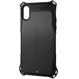 【iPhoneXS/iPhoneX】 エレコム(ELECOM) ZEROSHOCK スタンダード PM-A18BZEROBK ブラック