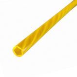 アクリサンデー 蛍光カラーパイプ 径8.5×1000 オレンジ│樹脂・プラスチック アクリルパイプ・棒材