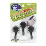 マーキー ワンピンフック 02 ブラック 3個入り│フック 石膏ボードフック