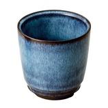 藍花 本格焼酎カップ 青釉