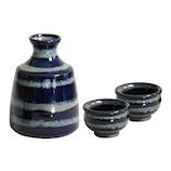 藍花 瑠璃色 ぐい呑・徳利 ギフトセット 14358