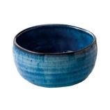藍花 抹茶碗 青釉 16143