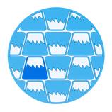 ViV 富士山コースター 59232 パターン ブルー