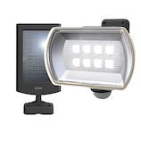 ムサシ RITEX 8Wワイドフリーアーム式 LEDソーラーセンサーライト S-80L│防犯センサー 防犯カメラ・センサーライト