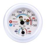 クレセル 熱中症・インフル対策温湿度計 TR-103W│温度計・湿度計