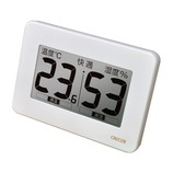 クレセル 超大画面デジタル温湿度計 CR−3000W│温度計・湿度計