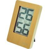 クレセル 天然木デジタル温湿度計 CR−2200W ホワイト│温度計・湿度計
